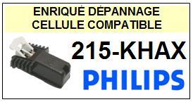 PHILIPS 215KHAX 215-KHAX Cellule avec diamant Sphérique <small> 2013-07</small>