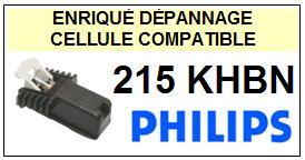 PHILIPS<BR>215KHBN 215 KH-BN Cellule avec diamant Sphérique <BR><small> 2014-09</small>