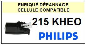 PHILIPS 215KHEO 215 KH-EO Cellule avec diamant Sphérique <BR><small>a 2014-01</small>