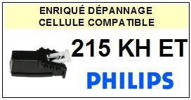 PHILIPS 215KHET 215-KH ET Cellule avec diamant Sphérique <BR><small>a 2014-01</small>