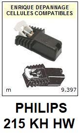PHILIPS<br> 215KHHW 215KH HW Cellule (cartridge) diamant Sphérique <BR><small> 2015-08</small>