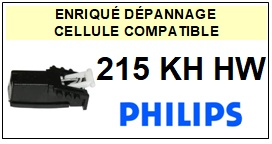 PHILIPS<br> 215KHHW 215KH HW Cellule (cartridge) diamant Sphérique <BR><small> 2015-08</small>