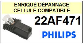 PHILIPS<br> 22AF471   Cellule (cartridge) pour tourne-disques <BR><SMALL>a 2015-01</small>
