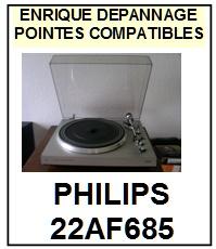 PHILIPS 22AF685  <br>Pointe sphérique pour tourne-disques (<B>sphérical stylus</b>)<SMALL> fevrier-2017</SMALL>