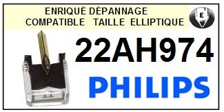 PHILIPS 22AH974  <bR>Pointe diamant elliptique pour tourne-disques (stylus)<SMALL> 2015-12</small>