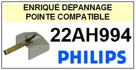 PHILIPS 22AH994 <br>Pointe sphérique pour tourne-disques (<B>sphérical stylus</b>)<SMALL> 2016-01</SMALL>