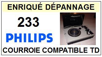 philips 233 courroie tourne disques a 2014 01 15 euros. Black Bedroom Furniture Sets. Home Design Ideas