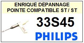 PHILIPS-33S45-POINTES-DE-LECTURE-DIAMANTS-SAPHIRS-COMPATIBLES