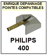 PHILIPS 400  <br>Pointe Diamant <b>sphérique</b> (sphérical stylus)<small> mars-2017</small>