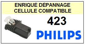 PHILIPS 423 <br>Cellule diamant sphérique pour tourne-disques (cartridge)<SMALL> 2015-10</small>