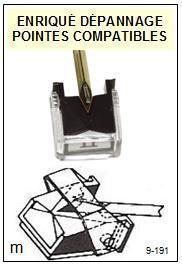 PHILIPS<br> 437 Pointe stylus diamant elliptique pour tourne-disques<BR><small>sce 2015-07</small>