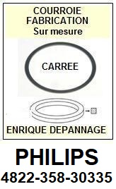 PHILIPS 482235830335 4822 358 30335 <BR>Courroie carrée référence philips (<B>square belt</B> manufacturer number)<small> 2017 DECEMBRE</small>