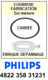 PHILIPS 482235831231 4822-358-31231 <BR>Courroie référence philips (square belt)<small> 2015-10</small>