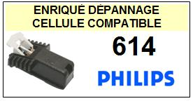 PHILIPS<br> 614  Cellule (cartridge) diamant sphérique <BR><SMALL>a 2015-06</small>