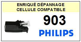 PHILIPS 903 <BR>Cellule diamant sphérique pour tourne-disques (cartridge)<SMALL> 2015-10</small>