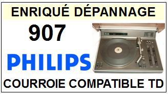 philips 907 courroie tourne disques a 2014 01 15 euros. Black Bedroom Furniture Sets. Home Design Ideas