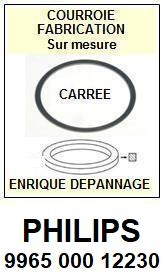 PHILIPS<br> 996500012230  courroie (square belt) référence philips<small> 2015-09</small>
