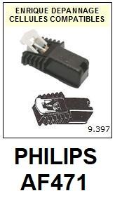 PHILIPS AF471  <BR>Cellule  pour tourne-disques (<B>cartridge</B>)<SMALL> 2018 JANVIER</small>