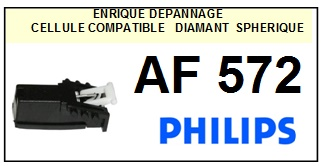 PHILIPS AF572   <BR>Cellule  pour tourne-disques (<B>cartridge</B>)<SMALL> 2016-07</small>