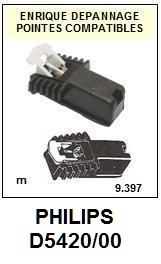PHILIPS D5420/00  <BR>Cellule  pour tourne-disques (<B>cartridge</B>)<SMALL> 2017-01</small>