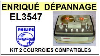 PHILIPS-EL3547-COURROIES-ET-KITS-COURROIES-COMPATIBLES