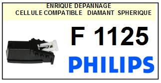 PHILIPS F1125  <BR>Cellule  pour tourne-disques (cartridge)<SMALL> 2015-12</small>