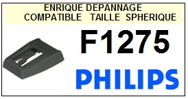 PHILIPS F1275 <br>Pointe sphérique pour tourne-disques(stylus)<small> 2015-11</small>