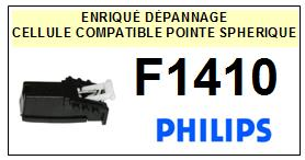 PHILIPS<br> F1410 Cellule (cartridge) pour tourne-disques <BR><SMALL>cel+k7 2014-12</small>