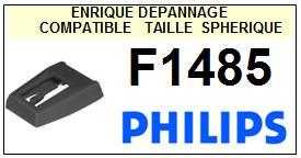 PHILIPS<br> F1485  Pointe (stylus) sphérique pour tourne-disques <BR><small>sc 2015-08</small>