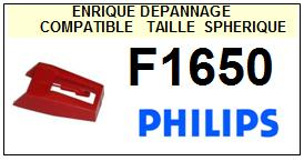 PHILIPS<br> F1650  Pointe (stylus) sphérique pour tourne-disques <BR><small>s+78tr 2015-09</small>