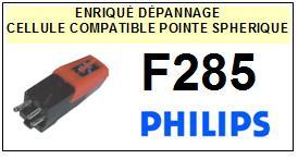 PHILIPS<br> F285  Cellule (cartridge) diamant Sphérique <BR><small>s+cel 2015-08</small>
