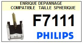 PHILIPS F7111 (synchro belt drive) <br>Pointe sphérique pour tourne-disques (stylus)<small> 2015-12</small>