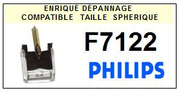 PHILIPS<br> F7122 Pointe (stylus) sphérique pour tourne-disques <BR><small> 2015-09</small>