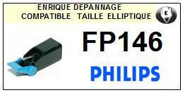 PHILIPS<br> FP146 Pointe (stylus) elliptique pour tourne-disques<SMALL> 2015-09</small>