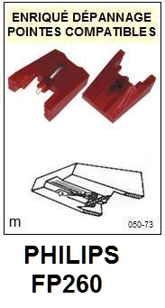 PHILIPS FP260 <br>Pointe diamant sphérique pour tourne-disques (stylus)<small> 2015-11</small>