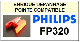 PHILIPS FP320 <br>Pointe sphérique pour tourne-disques (stylus mg2510)<small> 2015-11</small>