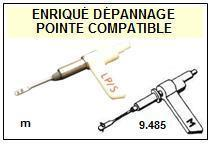 PHILIPS<br> GP224  Pointe (stylus) Diamant réversible (stereo/78tr)<SMALL> 2015-09</SMALL>