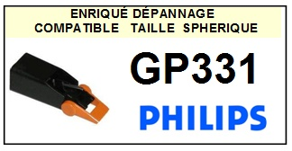 PHILIPS<br> GP331  Pointe (stylus) Diamant sphérique <small>2015-10</small>