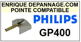 PHILIPS<br> GP400 GP-400 Pointe (stylus) Diamant sphérique<small> 2015-09</small>