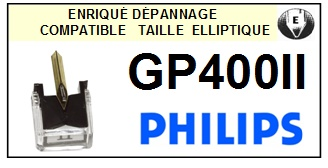 PHILIPS GP400II GP-400II <br>Pointe Diamant Elliptique (stylus)<small>se 2015-12</small>