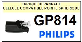 PHILIPS<br> GP814 Cellule (cartridge) diamant Sphérique <BR><small>a 2015-08</small>