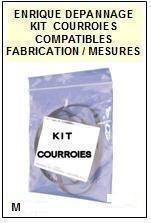 PHILIPS MTF mécanique deck <BR>kit 4 courroies pour platine k7 (<b>set belts</b>)<small> 2016-01</small>