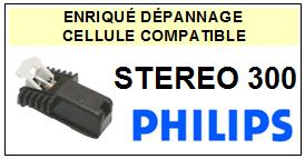PHILIPS platine STEREO 300  Cellule diamant sphérique <SMALL>13-10</small>