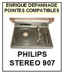 PHILIPS STEREO 907  <br>Pointe sphérique pour tourne-disques (<B>sphérical stylus</b>)<SMALL> 2017-01</SMALL>