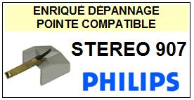 PHILIPS STEREO 907 <br>Pointe sphérique pour tourne-disques (<b>sphérical stylus</b>)<small> 2016-01</small>