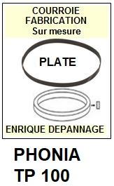 PHONIA-TP100 TP-100-COURROIES-ET-KITS-COURROIES-COMPATIBLES