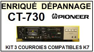 PIONEER-CT730 CT-730-COURROIES-ET-KITS-COURROIES-COMPATIBLES