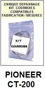 PIONEER-CT200 CT-200-COURROIES-ET-KITS-COURROIES-COMPATIBLES