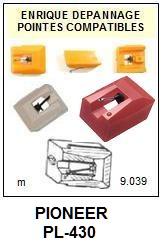PIONEER-PL430.  PL-430 (2°MONTAGE)-POINTES-DE-LECTURE-DIAMANTS-SAPHIRS-COMPATIBLES