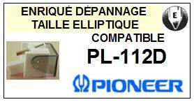 PIONEER<br> PL112D PL-112D Pointe elliptique (stylus) pour tourne-disques <small>2015-09</small>